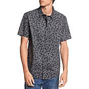 Quiksilver Men's Dots Flowers Short Sleeve Button Up Shirt