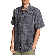 Quiksilver Men's Waterman Natural Life Short Sleeve Button Up Shirt