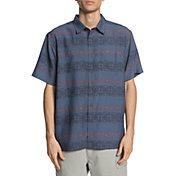 Quiksilver Men's Waterman Tapa Mood Short Sleeve Button Up Shirt