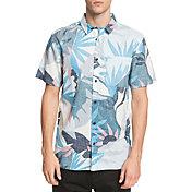 Quiksilver Men's Tropical Flower Short Sleeve Button Up Shirt