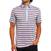 Criquet Men's Top-Shelf Players Stripe Golf Shirt