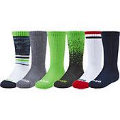 DSG Boys' Multipack Crew Socks – 6 Pack
