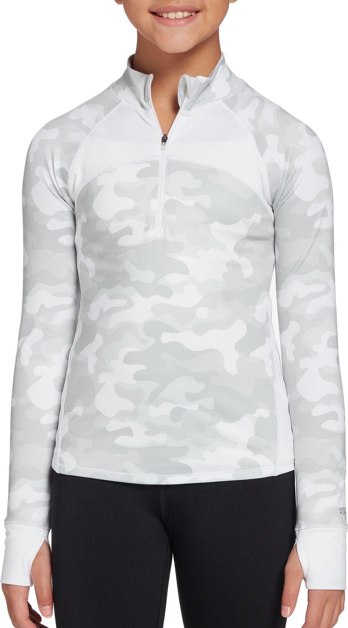DSG Girls' CWC 1/4 Zip Jacket, XXS, Camo/pure White