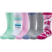 DSG Girls' Multipack Crew Socks – 6 Pack