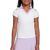 DSG Girls' Mesh Short Sleeve Golf Polo