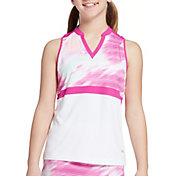 DSG Girls' Motion Blur Sleeveless Golf Polo