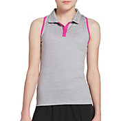 DSG Girls' Tie Back Sleeveless Golf Polo