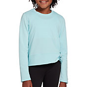DSG Girls' Side Tie Crew Neck Long Sleeve Shirt