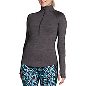 DSG Women's 1/4 Zip Cold Weather Space Dye Long Sleeve Shirt