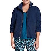 DSG Women's Polar Fleece Woven Full-Zip Jacket