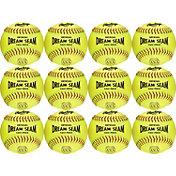 Rawlings 11'' Dream Seam ASA/NFHS High Density Leather Softballs - 12 Pack