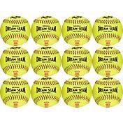 Rawlings 12'' Dream Seam ASA/NFHS High Density Leather Softballs - 12 Pack