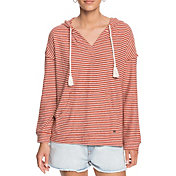 Roxy Women's Lovely Life Stripes Long Sleeve Poncho Hoodie