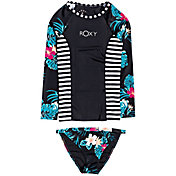 Roxy Girls' Sunkissed Long Sleeve Rash Guard Set