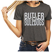 Gameday Couture Women's Butler Bulldogs Grey Home Team Advantage Vintage Vibe Crop Top
