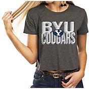 Gameday Couture Women's BYU Cougars Grey Home Team Advantage Vintage Vibe Crop Top