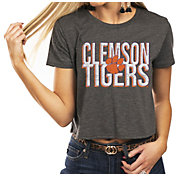 Gameday Couture Women's Clemson Tigers Grey Home Team Advantage Vintage Vibe Crop Top