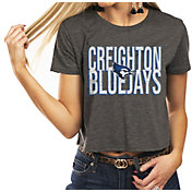 Gameday Couture Women's Creighton Bluejays Grey Home Team Advantage Vintage Vibe Crop Top