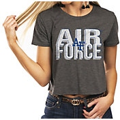 Gameday Couture Women's Air Force Falcons Grey Home Team Advantage Vintage Vibe Crop Top