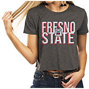 Gameday Couture Women's Fresno State Bulldogs Grey Home Team Advantage Vintage Vibe Crop Top