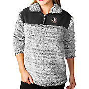 Gameday Couture Women's Florida State Seminoles Grey Winter Essential Sherpa Quarter-Zip Fleece