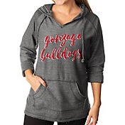 Gameday Couture Women's Gonzaga Bulldogs Grey Keeping Cozy French Terry Pullover Hoodie