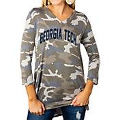Gameday Couture Women's Georgia Tech Yellow Jackets Camo Hidden Treasures ¾ Sleeve Tunic Shirt