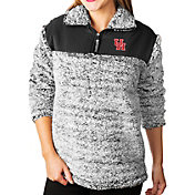 Gameday Couture Women's Houston Cougars Grey Winter Essential Sherpa Quarter-Zip Fleece