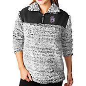 Gameday Couture Women's James Madison Dukes Grey Winter Essential Sherpa Quarter-Zip Fleece