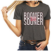 Gameday Couture Women's Oklahoma Sooners Grey Home Team Advantage Vintage Vibe Crop Top