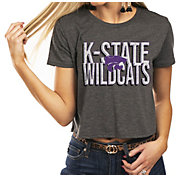 Gameday Couture Women's Kansas State Wildcats Grey Home Team Advantage Vintage Vibe Crop Top