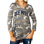 Gameday Couture Women's Ole Miss Rebels Camo Hidden Treasures ¾ Sleeve Tunic Shirt