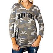 Gameday Couture Women's LSU Tigers Camo Hidden Treasures ¾ Sleeve Tunic Shirt