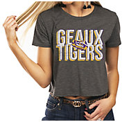 Gameday Couture Women's LSU Tigers Grey Home Team Advantage Vintage Vibe Crop Top