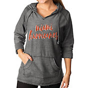 Gameday Couture Women's Miami Hurricanes Grey Keeping Cozy French Terry Pullover Hoodie