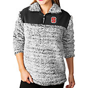 Gameday Couture Women's NC State Wolfpack Grey Winter Essential Sherpa Quarter-Zip Fleece