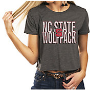 Gameday Couture Women's NC State Wolfpack Grey Home Team Advantage Vintage Vibe Crop Top
