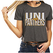 Gameday Couture Women's Northern Iowa Panthers  Grey Home Team Advantage Vintage Vibe Crop Top