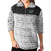 Gameday Couture Women's South Florida Bulls Grey Winter Essential Sherpa Quarter-Zip Fleece