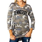 Gameday Couture Women's Tennessee Volunteers Camo Hidden Treasures ¾ Sleeve Tunic Shirt