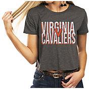 Gameday Couture Women's Virginia Cavaliers Grey Home Team Advantage Vintage Vibe Crop Top