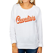 Gameday Couture Women's Virginia Cavaliers Casually Cute French Terry Pullover White Sweatshirt