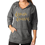 Gameday Couture Women's Wake Forest Demon Deacons Grey Keeping Cozy French Terry Pullover Hoodie