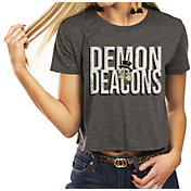 Gameday Couture Women's Wake Forest Demon Deacons Grey Home Team Advantage Vintage Vibe Crop Top