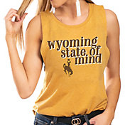 Gameday Couture Women's Wyoming Cowboys Gold Festival Tank Top