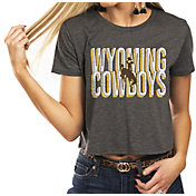 Gameday Couture Women's Wyoming Cowboys Grey Home Team Advantage Vintage Vibe Crop Top