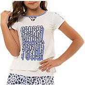 Lucky in Love Girls' Grrrl Power Short Sleeve Tennis T-Shirt