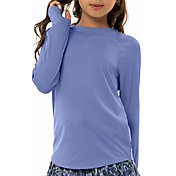Lucky in Love Girls' Athletic Crew Long Sleeve Tennis Top
