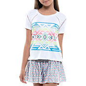 Lucky In Love Girls' Square Are You Tennis Shirt