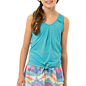 Lucky in Love Girls' Tie Knot Tennis Tank Top
